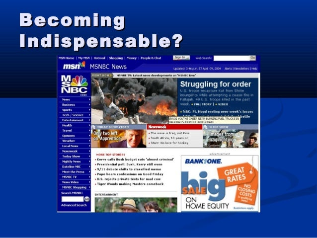 BecomingBecoming Indispensable?Indispensable?
