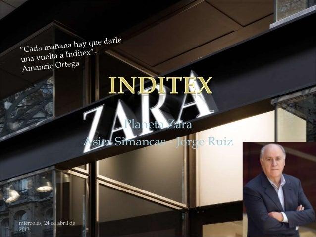 Planeta Zara                            Asier Simancas - Jorge Ruizmiércoles, 24 de abril de2013