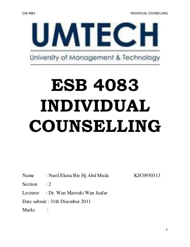 ESB 4083                                  INDIVIDUAL COUNSELLING      ESB 4083     INDIVIDUAL    COUNSELLINGName       : N...