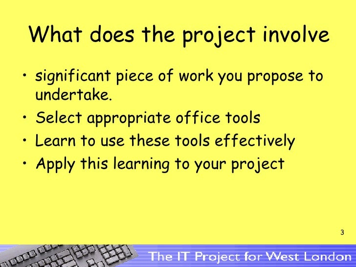 Individual  Projects Slide 3