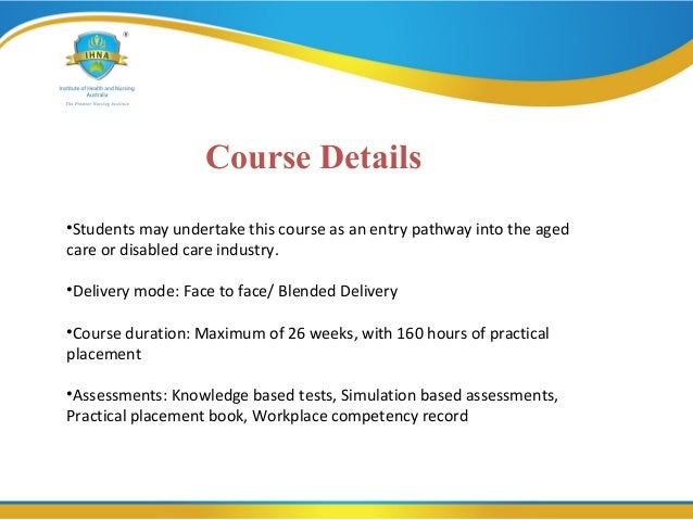 Chc33015 Certificate Iii In Individual Support Program Ageing And D