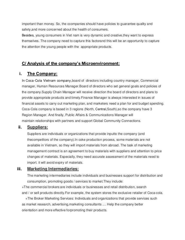 micro environmental factors affecting coca cola Free essay: external analysis of nestle: nestle in the global environment: nestle   coca cola's micro and macro environment  departments and management  levels—as it affects marketing management's decision making.