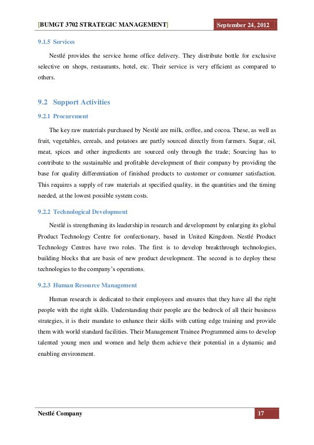 nestle company management theory Strategic management - nestle company  management]  september 24, 2012nestlé company 21140 conclusionthe theory.