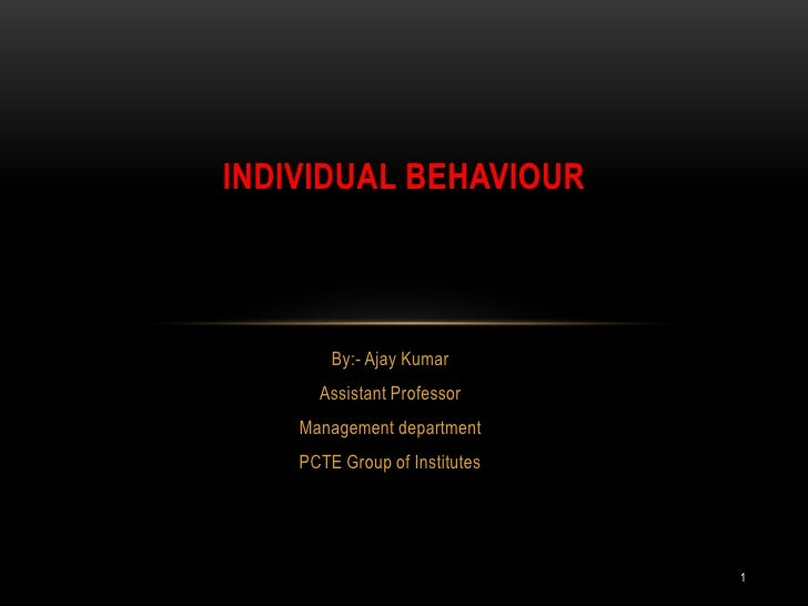 individual behaviour Types of individual behaviour the four perspectives described over the past few pages—open systems, organisational learning, high-performance work practices and stakeholder—provide a multidimensional view of what makes companies effective.