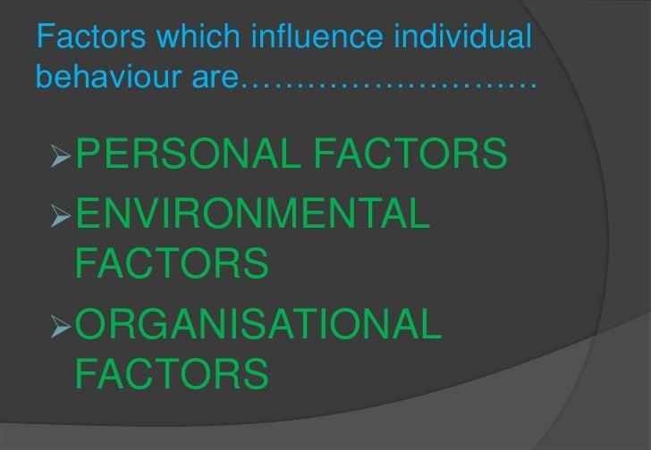 Individual behaviour Slide 3