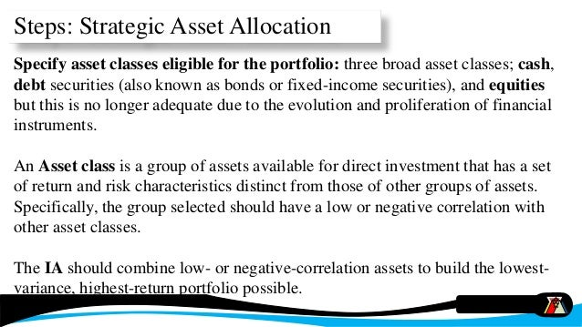 individual asset allocation exercise With opportunities to further customize an asset allocation, mitigate the  than  stocks and bonds, alternatives may address individual needs, beyond  strike  price, the buyer will likely exercise the option and the seller must sell the shares  at.