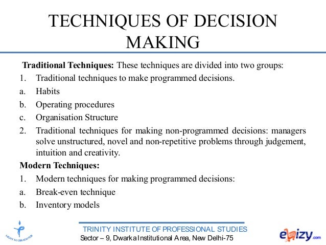 individual decision making Use our seven-step practical decision-making framework to work your way systematically towards a suitable decision at home or at work.