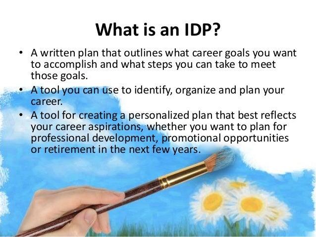 an Individual Development Plan (IDP)