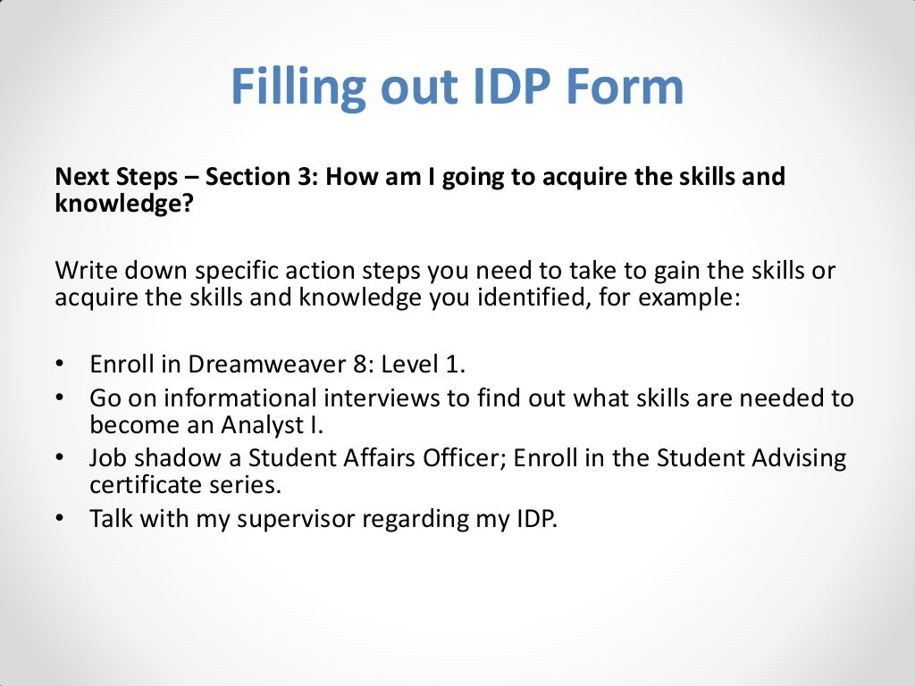 personal career development plan template