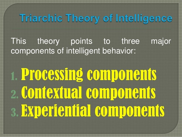 individual differences triarchic theory of intelligence