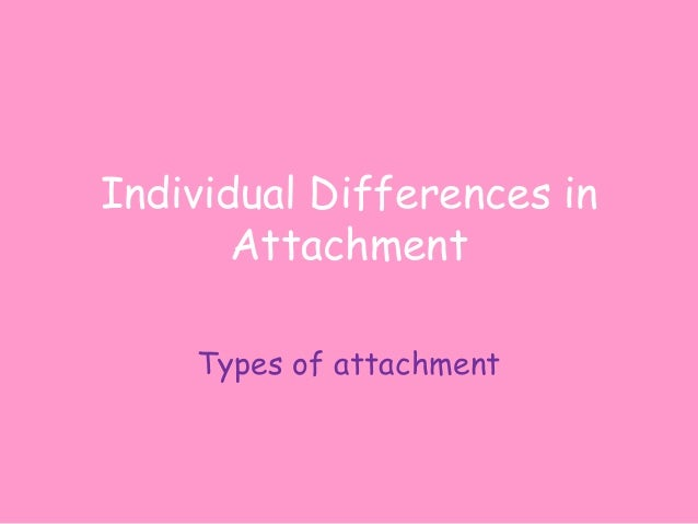 Individual Differences in Attachment Types of attachment