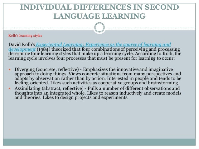 individual differences in experiments essay
