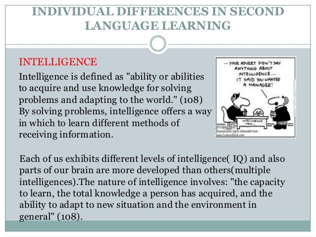 language and the individual Investigating linguistic knowledge of a second language and its relationship to  general language proficiency and individual learner differences in an efl  context.