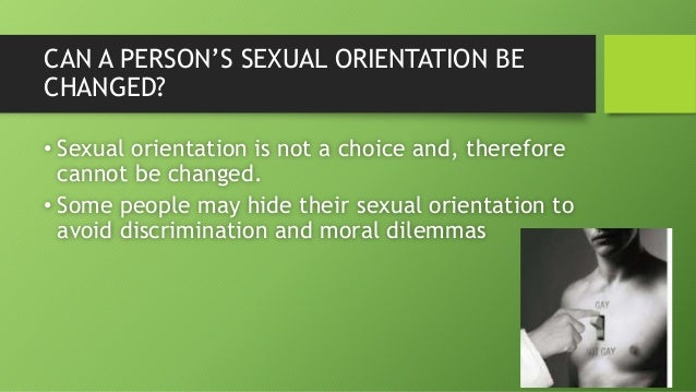Sexual orientation is a choice debate