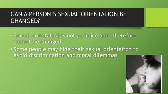 Sexual orientation is a choice debate