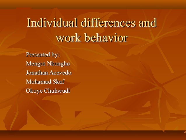 individual work 1 Attitudes towards group work 1 running head: attitudes towards group work  understand if attitudes toward group work varied according to individual learning style.