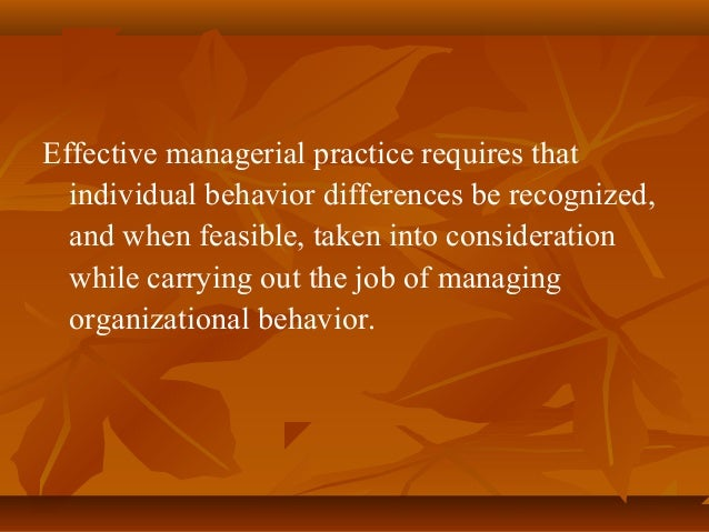 diversity impact on individual behavior Diversity: individual behavior impact diversity: individual behavior impact individual behavior is the pattern of behavior, thought, and emotion, unique to an individual, and the ways he or she interact to help or hinder the adjustment of a person to other people and situations (the columbia encyclopedia, 2001).