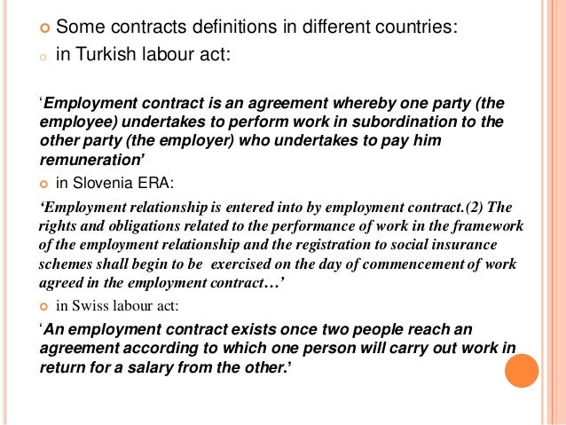 Individual Employment Contract In Rome