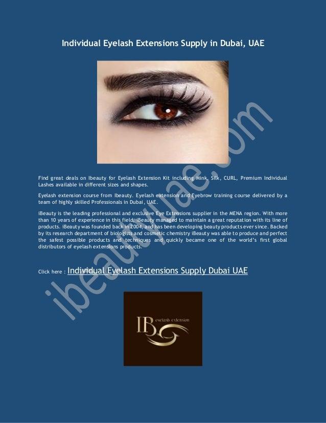 Individual Eyelash Extensions Supply In Dubai