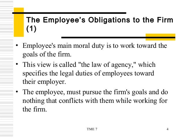 obligations of an employee
