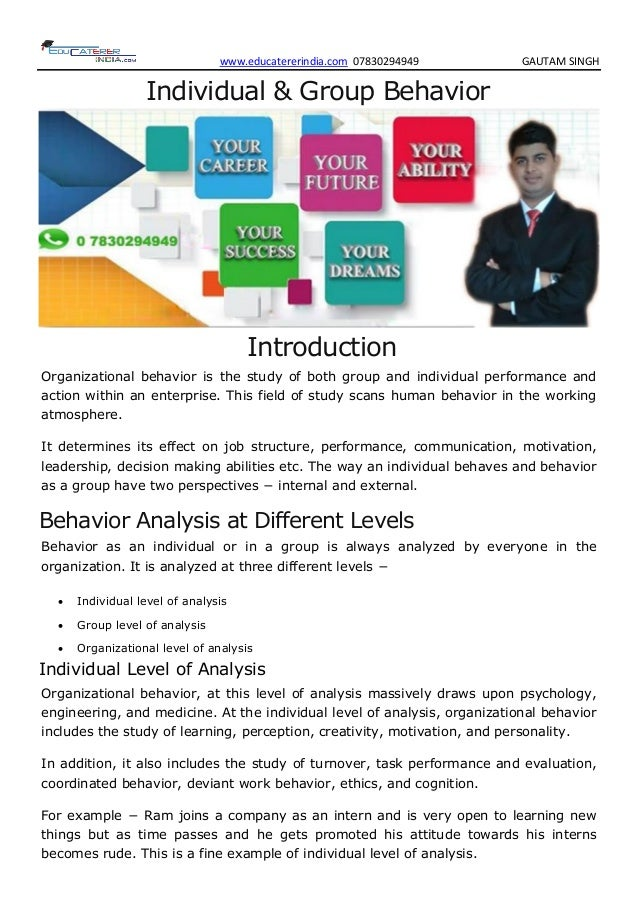 classification of group behaviour