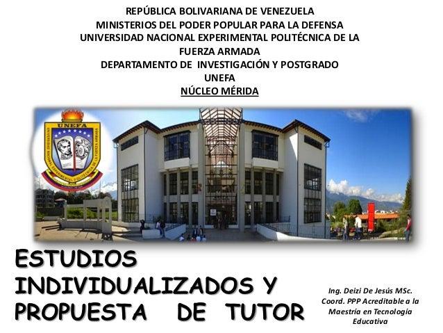 REPÚBLICA BOLIVARIANA DE VENEZUELA       MINISTERIOS DEL PODER POPULAR PARA LA DEFENSA    UNIVERSIDAD NACIONAL EXPERIMENTA...
