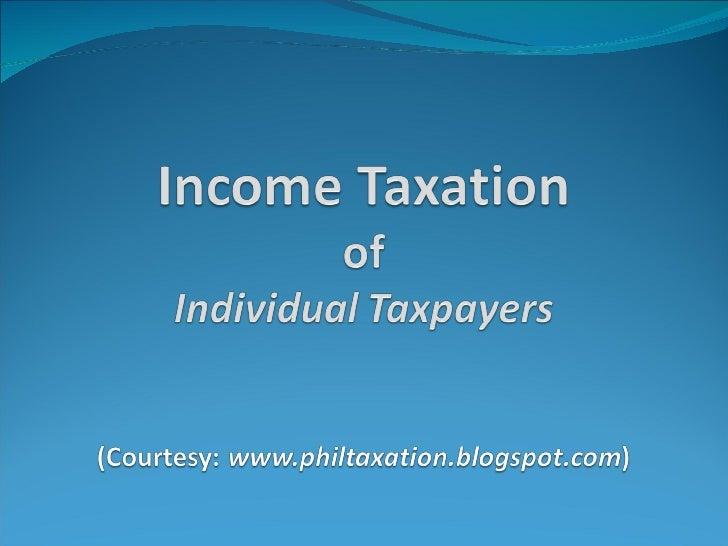 Individual income tax.feb.2011 Slide 1