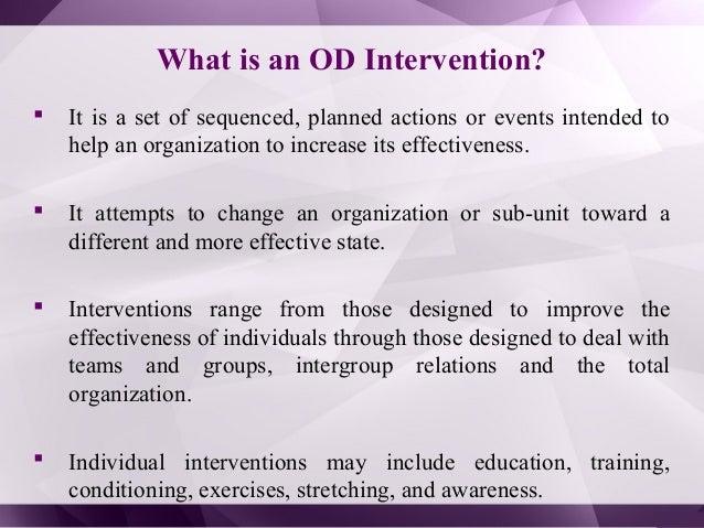 Individual intervention - Organizational Development