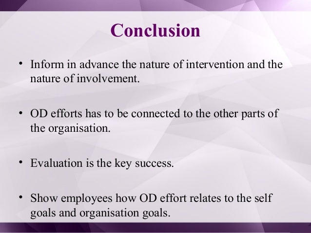 Organization development interventions essay