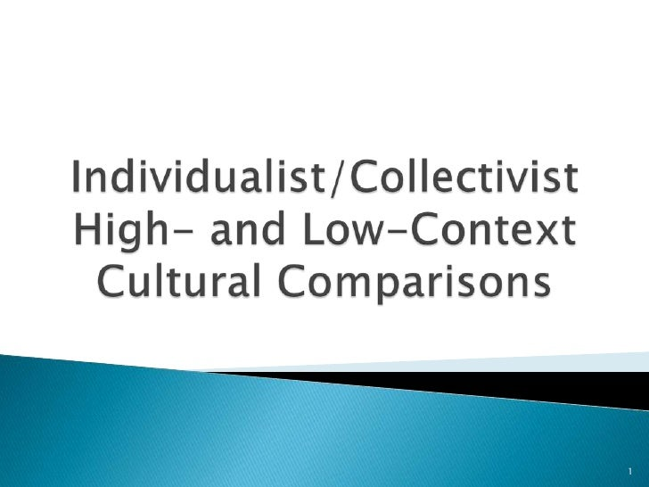 Individualist/CollectivistHigh- and Low-ContextCultural Comparisons<br />1<br />