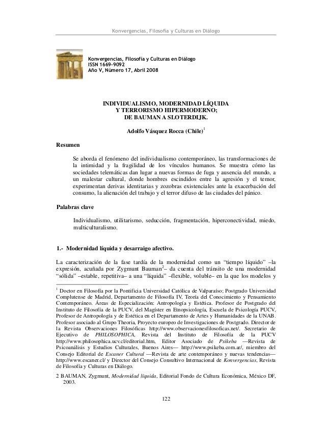 Konvergencias, Filosofía y Culturas en Diálogo 122 Konvergencias, Filosofía y Culturas en Diálogo ISSN 1669-9092 Año V, Nú...