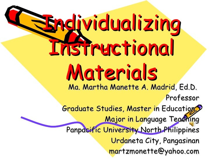instructional materials in philippines Learning materials in the philippines: the dog ate my homework executive director of instructional materials council secretariat, deped philippines.