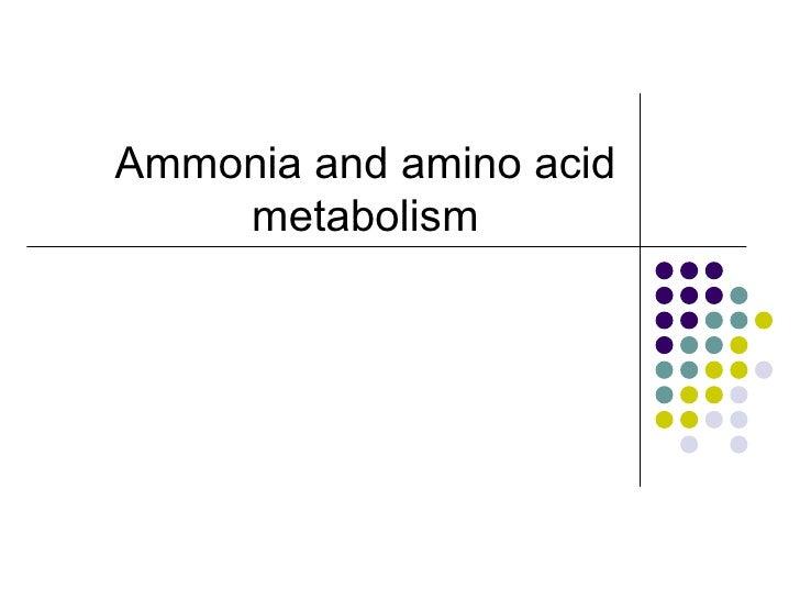 Ammonia and amino acid    metabolism