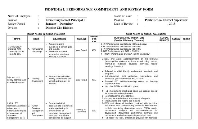 Steps for Individual Performance Evaluations