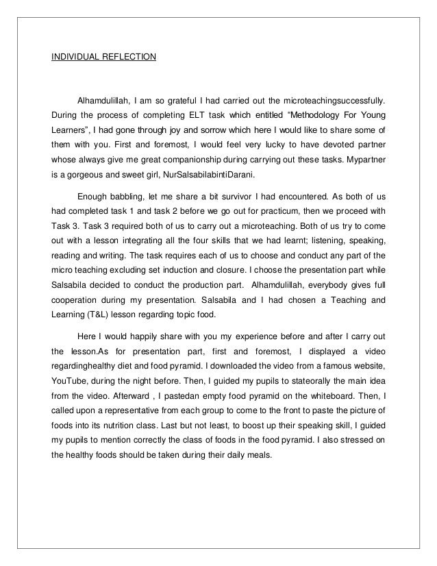 reflective writing essay reflective essay thesis