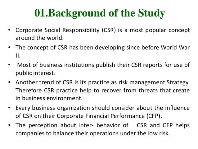Research proposal on corporate social responsibility