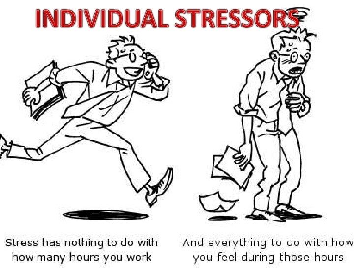 INDIVIDUAL STRESSORS<br />