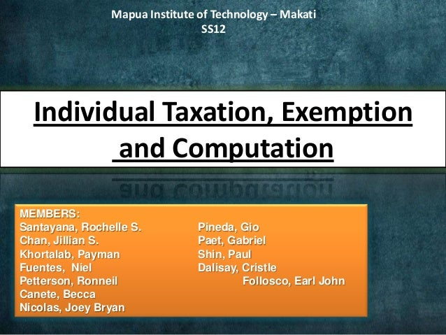 how to become tax exempt individual
