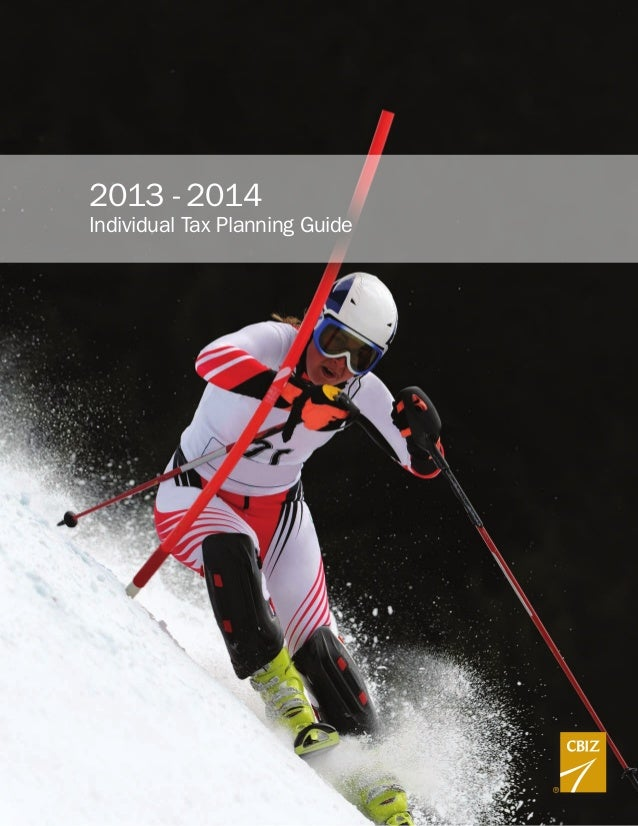 2013 - 2014 Individual Tax Planning Guide