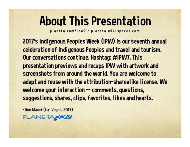 Indigenous Peoples Week #ipw7 Slide 2