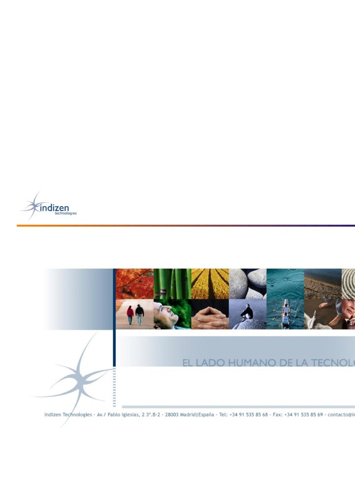 Empresa • Indizen es una compañía de ingeniería y   desarrollo de software técnico-matemático   caracterizada por:      E...