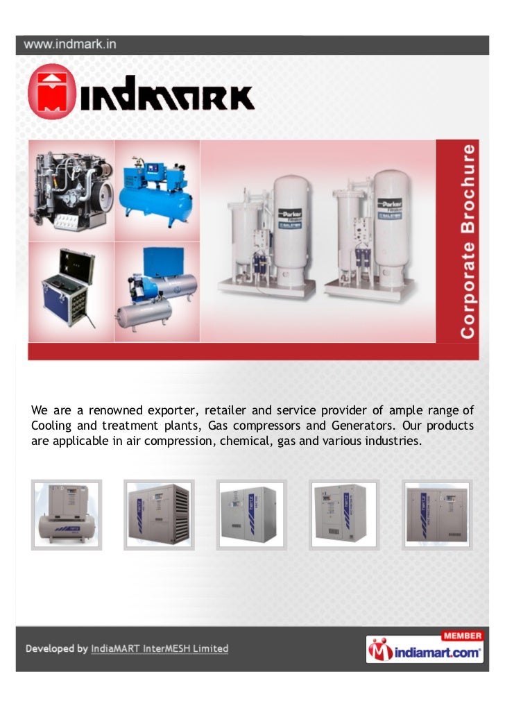 We are a renowned exporter, retailer and service provider of ample range ofCooling and treatment plants, Gas compressors a...