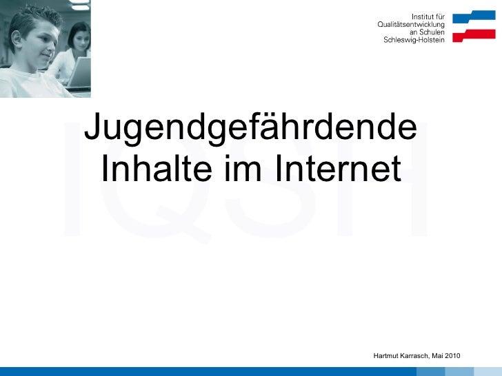 Jugendgefährdende Inhalte im Internet