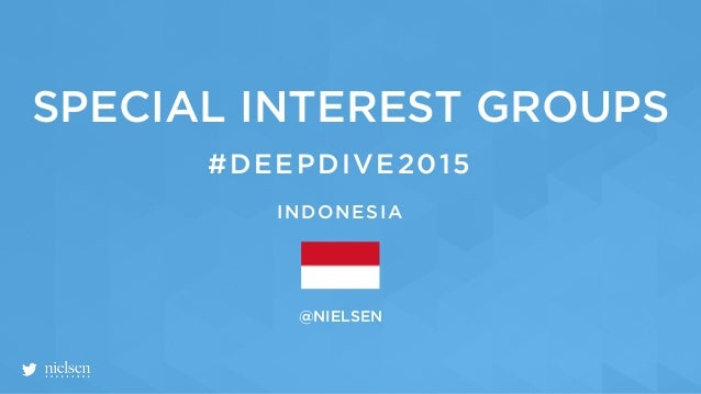 @NIELSEN #DEEPDIVE2015 SPECIAL INTEREST GROUPS INDONESIA