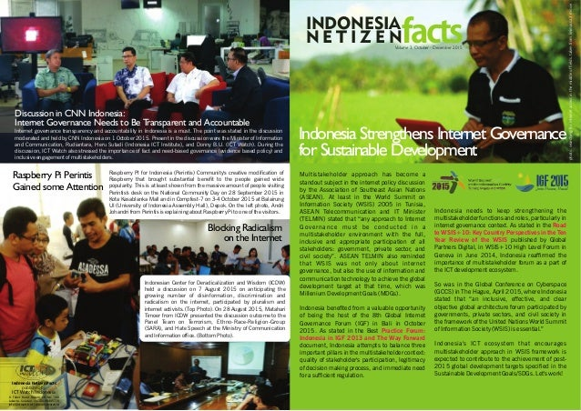 Disinformasi di Internet Indonesia Strengthens Internet Governance for Sustainable Development Multistakeholder approach h...