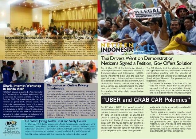 Taxi Drivers Went on Demonstration, Netizens Signed a Petition, Gov Offers Solution On 14 March 2016, the Indonesian Minis...