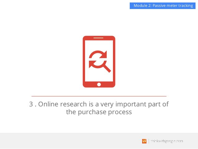 3 . Online research is a very important part of the purchase process Module 2: Passive meter tracking
