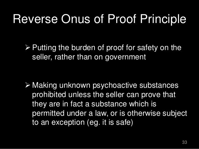 reverse burden of proof under ndps Reform of uk consumer law on remedies for the sale the consumer benefits from a reverse burden of proof during the first 6 months of the contract in respect.