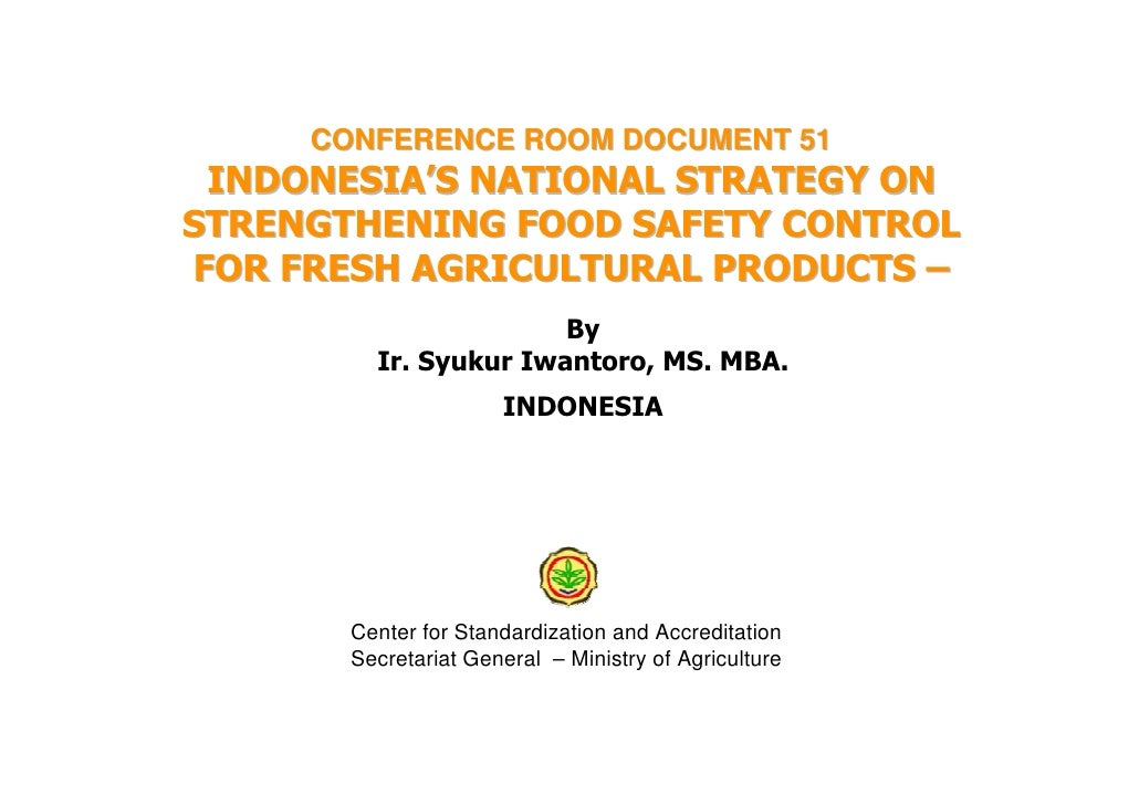 Indonesia Food Safety Control Fresh Agricultural Products