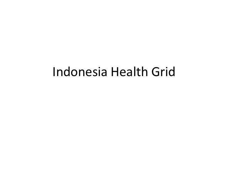 Indonesia Health Grid<br />